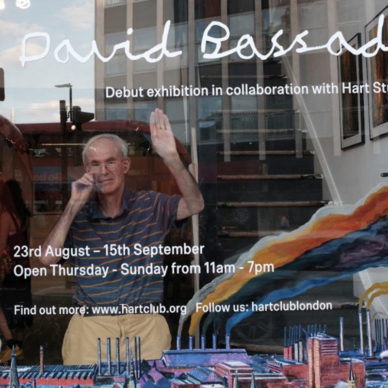 David Bassadone window display at Hart Club