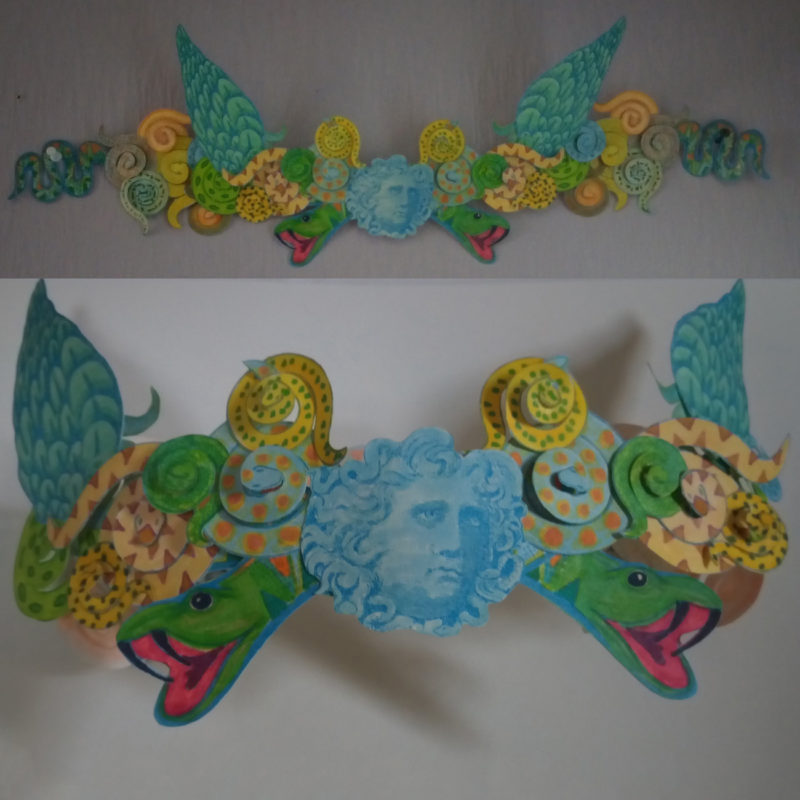 Medusa Headdress by Lorna Thompson. Pack No. 7.