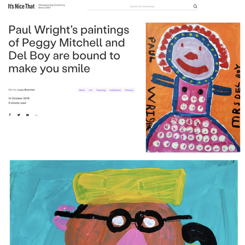 Paul Wright feature, It;s Nice That/