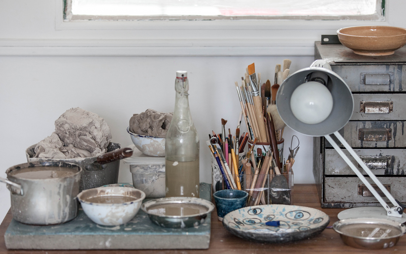 Hart Club ceramic studio