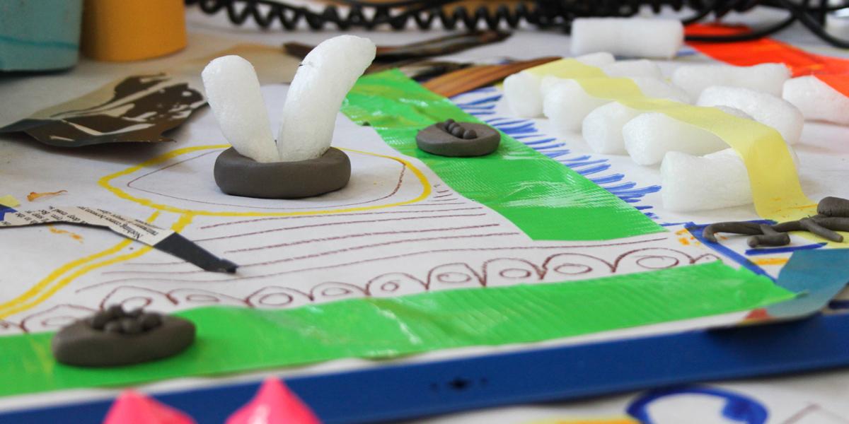 Sensory sculptures by Hart School students
