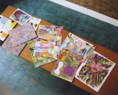 Artworks by resident Hart Club artists