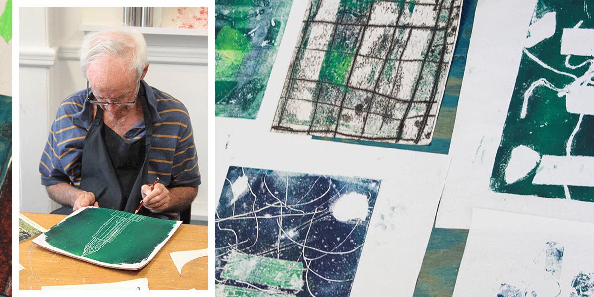 David Bassadone turns his architectural drawings into a monoprint.