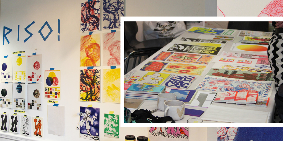 Risograph workshop and examples of printed publications