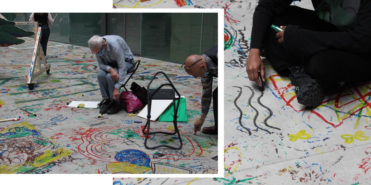 Hart School students make work in the Turbine Hall of the Tate Modern